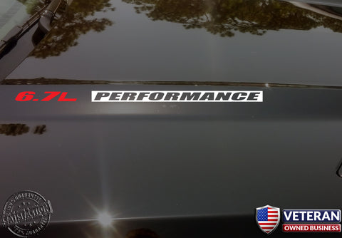 6.7L PERFORMANCE Hood Vinyl Decals Stickers Fits: Ford Superduty Powerstroke