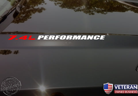 7.4L PERFORMANCE Hood decals 454 Chevrolet Silverado GMC HD 2500 3500