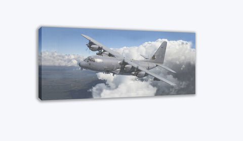 AC-130J Gunship in the Clouds Canvas Print