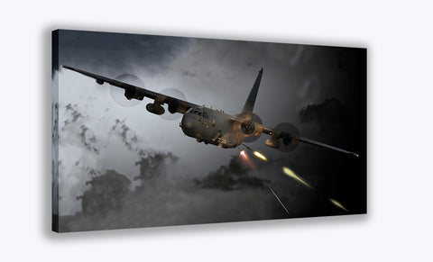 AC-130U Gunship Canvas Print