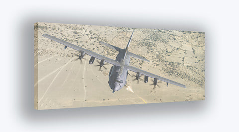 AC-130J Gunship Desert Canvas Print