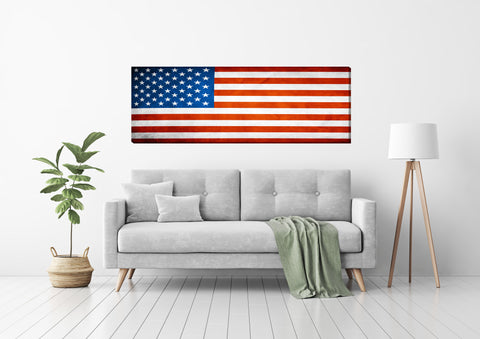 Coming Soon-American Flag Canvas