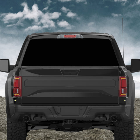 Custom Truck Rear Window 50/50 Perforated Vinyl Decal V2