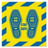 Social Distancing Slip Resistant Floor Decals 12 inches X 12 Inches