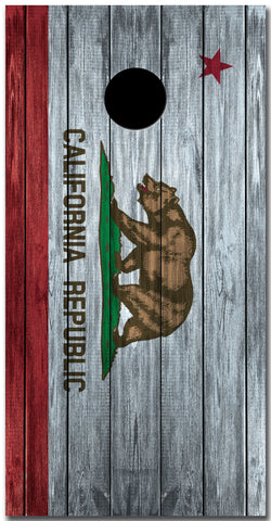 2x California Flag on Wood Cornhole Board Bag Toss Vinyl Wrap Set- Universal Fit Oracal 3M