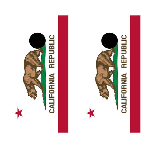 2 x Cornhole Board Bag Toss Vinyl Wrap Set-California Flag Universal Fit Oracal 3M