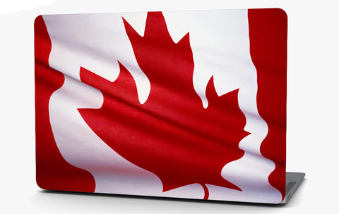 Canadian Maple Flag Vinyl Laptop Computer Skin Sticker Decal Wrap Macbook Various Sizes