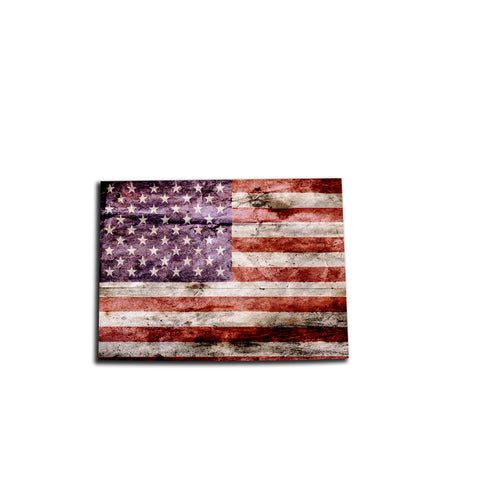 Colorado Distressed Tattered Subdued USA American Flag Vinyl Sticker