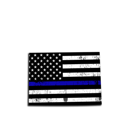 Colorado Distressed Subdued US Flag Thin Blue Line/Thin Red Line/Thin Green Line Sticker. Support Police/Firefighters/Military