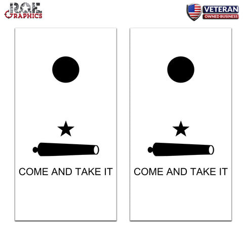 Come and Take it Texas Cornhole Board Bag Toss Wrap Set-Universal Fit patriotic