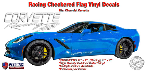 Corvette Racing Window Rocker Decal fits Corvette ZR1 Z06 C6 C5 C4 Stingray