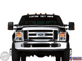Custom Text Windshield Banner Vinyl Decal-Fits Ford F150 F250 F350 Super Duty
