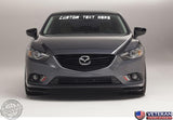 Custom Text Windshield Banner Vinyl Decal-Fits Mazda 6 Mazdaspeed 6 2000-2015
