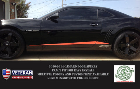 2010-2015 CHEVY CAMARO ROCKER SPIKE DOOR SPEARS RS SS VINYL DECALS-0050