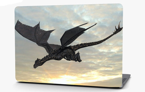 Black Dragon Vinyl Laptop Computer Skin Sticker Decal Wrap Macbook Various Sizes