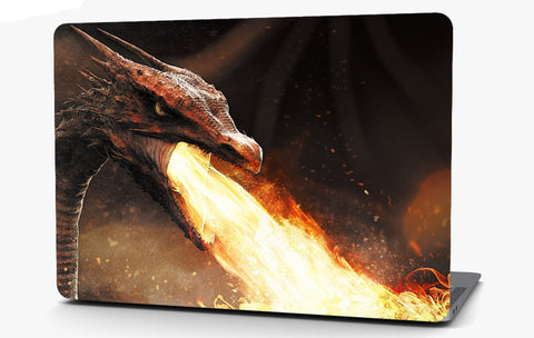 Fire Breathing Dragon Vinyl Laptop Computer Skin Sticker Decal Wrap Macbook Various Sizes
