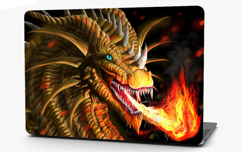 Dragon Fire Vinyl Laptop Computer Skin Sticker Decal Wrap Macbook Various Sizes