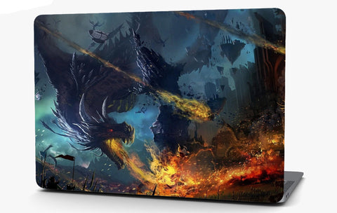 Dragon Burning City Vinyl Laptop Computer Skin Sticker Decal Wrap Macbook Various Sizes