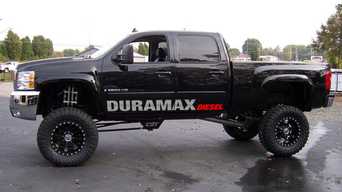 Door Banner Graphic Vinyl Decal Fits: Duramax Diesel Chevrolet Silverado GMC Sierra