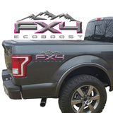 FX4 Eco Boost Mountains 2-Color 3D Vinyl Decal Fits All Makes and Models
