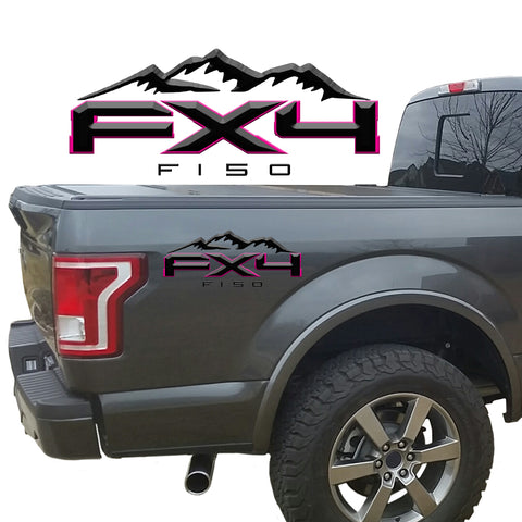 FX4 F150 Mountains 2-Color 3D Vinyl Decal Fits All Makes and Models