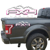 FX4 Lariat Mountains 2-Color 3D Vinyl Decal Fits All Makes and Models