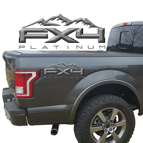 FX4 Platinum Mountains 2-Color 3D Vinyl Decal Fits All Makes and Models