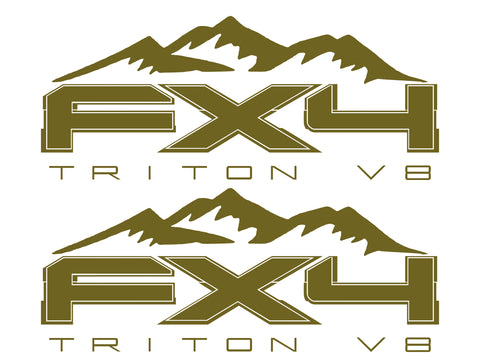 FX4 Triton V8 MOUNTAIN Bedside Fits Ford 2008-2017 F150-250 SUPER DUTY