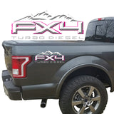FX4 Turbo Diesel Mountains 2-Color 3D Vinyl Decal Fits All Makes and Models