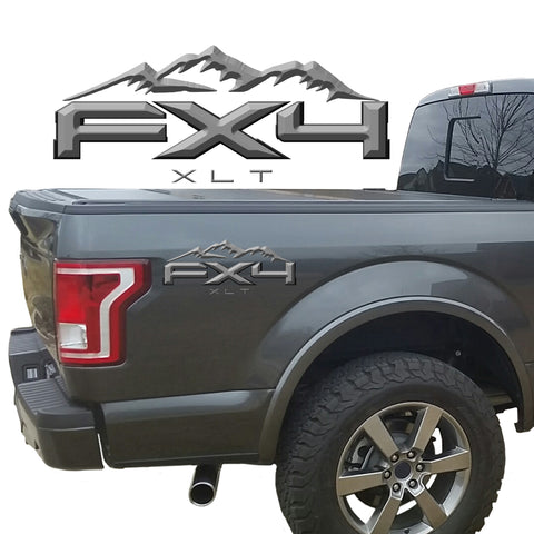 FX4 XLT Mountains 2-Color 3D Vinyl Decal Fits All Makes and Models