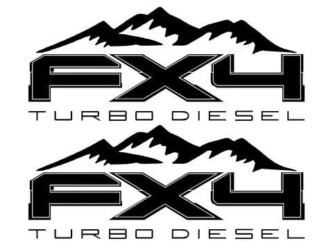FX4 Turbo Diesel MOUNTAIN Bedside Fits Ford 2008-2017 F150-250 SUPER DUTY