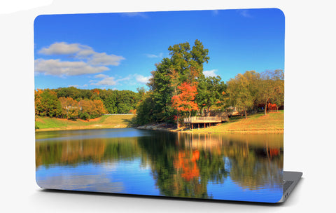 Fall Lake Landscape Vinyl Laptop Computer Skin Sticker Decal Wrap Macbook Various Sizes