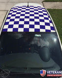 Checkered Roof Square Checkerboard Decals for Fiat Abarth, 500, Punto 2010-2015