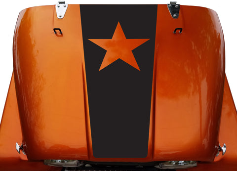 Freedom Star Hood Blackout Vinyl Decal Sticker fit: Jeep CJ 5 6 7 8