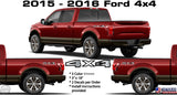 4x4 VINYL CHROME DECAL STICKER MULTI COLOR FOR FORD SUPERDUTY F150 F250 F350F450