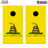 Gadsden Flag Don't Tread on me Cornhole Board Bag Toss Wrap Set- patriotic
