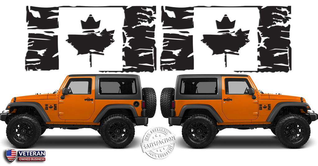 "Dodge Canada Build And Price >> (2) 6 or 12"" Flag of Canada Grunge Maple Leaf Distressed ..."