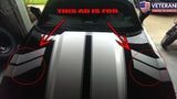 "Chevy Camaro 5"" Fender Hood Hash Stripes Both Sides RS SS LT LE Vinyl 2010-2014"
