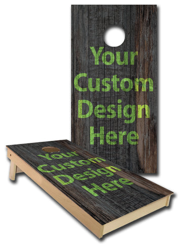 Custom Cornhole Board Bag Toss Vinyl Wrap Set