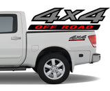 4x4 3 Color Off Road Bedside Vinyl Decals Stickers fits Nissan Titan King Crew Cab LE SE