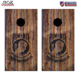 POW MIA You are not Forgotten Wood Cornhole Board Bag Toss Wrap Set-patriotic
