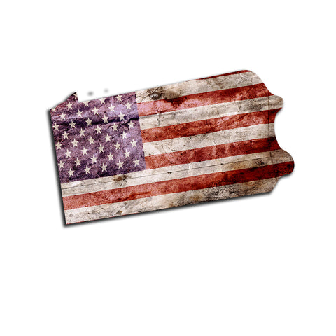 Pennsylvania Distressed Tattered Subdued USA American Flag Vinyl Sticker