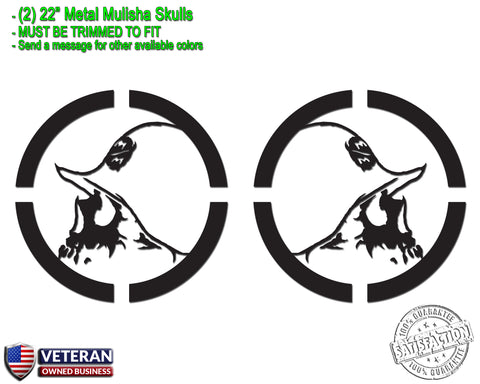 "(2) Metal Mulisha Skull Vinyl Decals 22"" X 22"" Motocross Window Truck Bedside"