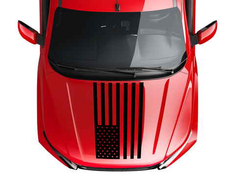 Standard US American Flag hood vinyl decal fits: Dodge Ram Chevrolet Ford Toyota Nissan-0066