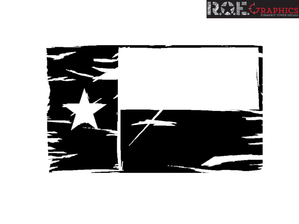 Texas State Flag Hood Decal Distressed Fits Dodge Ram