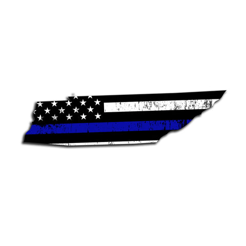 Tennessee Distressed Subdued US Flag Thin Blue Line/Thin Red Line/Thin Green Line Sticker. Support Police/Firefighters/Military
