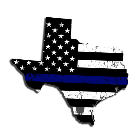 Texas Distressed Subdued US Flag Thin Blue Line/Thin Red Line/Thin Green Line Sticker. Support Police/Firefighters/Military