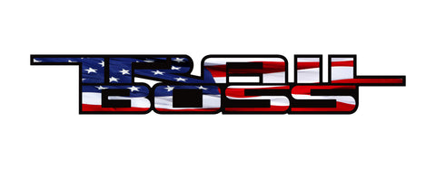 Trail Boss American Flag Vinyl Decal for Truck Bed Fits: GMC Chevrolet Silverado