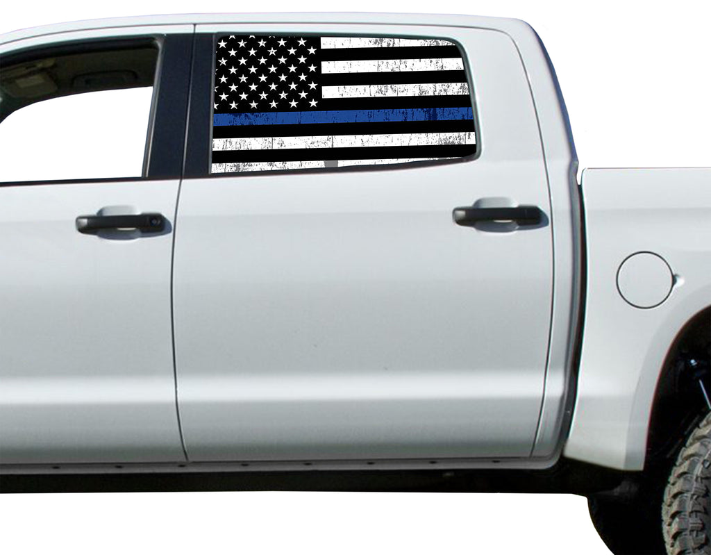 Universal Thin Blue Line Flag Window Tint Perforated Vinyl