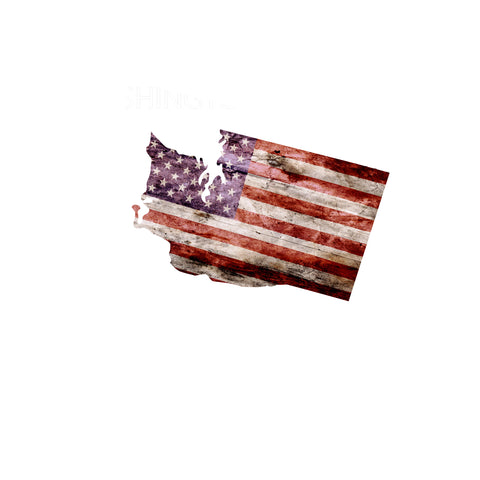 Washington Distressed Tattered Subdued USA American Flag Vinyl Sticker